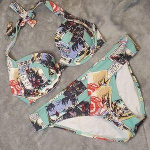 Victoria's Secret 36C M padded pushup bikini set